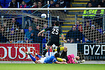St Johnstone v Hibernian...26.11.11   SPL .Ritchie Towell scores his goal.Picture by Graeme Hart..Copyright Perthshire Picture Agency.Tel: 01738 623350  Mobile: 07990 594431