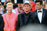 CANNES, FRANCE. July 12, 2021: Tilda Swinton, Bill Murray & Benicio Del Toro at the gala premiere of Wes Anderson's The French Despatch at the 74th Festival de Cannes.<br /> Picture: Paul Smith / Featureflash