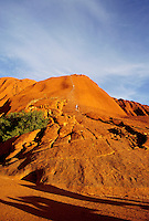 Start of the trail climbers use to walk to the top of the rock, Ayers Rock, Australia