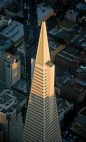 aerial photograph Transamerica pyramid skyscraper San Francisco