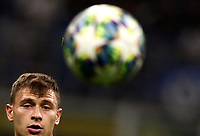 Football Soccer: UEFA Champions League -Group Stage- Group F Internazionale Milano vs  SK Slavia Praha, Giuseppe Meazza stadium, September 17, 2019.<br /> Inter's Nicolò Barella in action during the Uefa Champions League football match between Internazionale Milano and Slavia Praha at Giuseppe Meazza (San Siro) stadium, September 17, 2019.<br /> UPDATE IMAGES PRESS/Isabella Bonotto