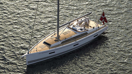Artist's impression of the new-look X-Yachts X4³