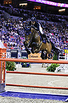 OMAHA, NEBRASKA - MAR 31: Maikel Van der Vleuten rides VDL Groep Verdi Tn N.O.P. during the FEI World Cup Jumping Final II at the CenturyLink Center on March 31, 2017 in Omaha, Nebraska. (Photo by Taylor Pence/Eclipse Sportswire/Getty Images)
