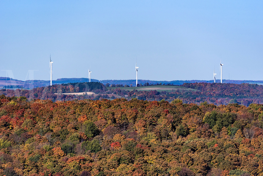 Wind farm, Madison, New York, USA
