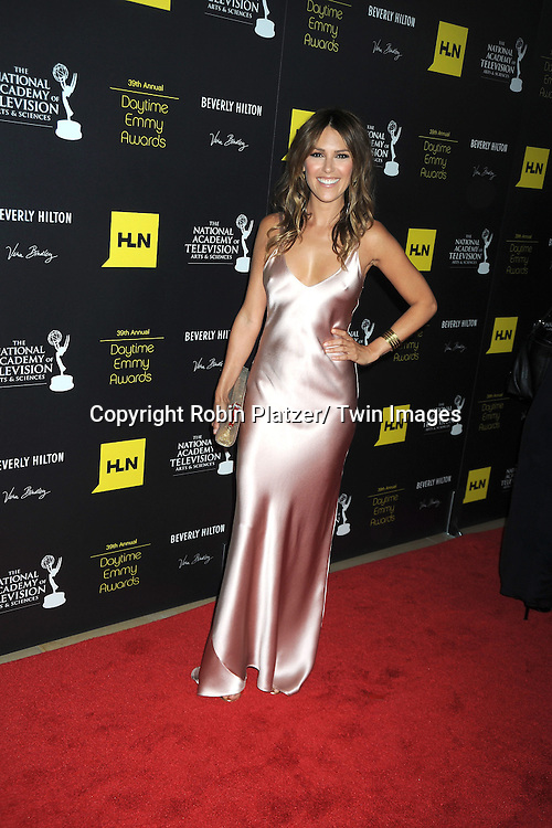 Elizabeth Hendrickson attends the 39th Annual Daytime Emmy Awards on June 23, 2012 at the Beverly Hilton in Beverly Hills, California. The awards were broadcast on HLN.