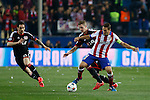 Atletico de Madrid´s Koke (R) and Bayer 04 Leverkusen´s Hilbert during the UEFA Champions League round of 16 second leg match between Atletico de Madrid and Bayer 04 Leverkusen at Vicente Calderon stadium in Madrid, Spain. March 17, 2015. (ALTERPHOTOS/Victor Blanco)