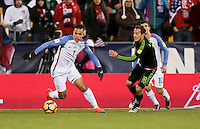 Columbus, OH - November 11, 2016: The U.S. Men's National team goes down to Mexico 0-1 in first half action during their Hexagonal World Cup Qualifier match at MAPFRE Stadium.
