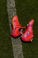 HOUSTON, TX - JUNE 9: Rose Lavelle #16 of the USWNT leaves her Nike boots on the ground after a training session at BBVA Stadium on June 9, 2021 in Houston, Texas.