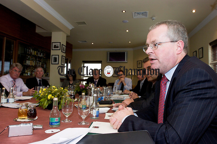 Paul O'Toole, Chief Executive Tourism Ireland, speaking at a meeting of the Regional Tourist Board at Vaughans Lodge Hotel in Lahinch.Pic Arthur Ellis.