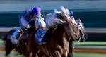 November 3, 2018 : Audible #3, ridden by Javier Castellano, wins the 1st running of the Qatar Cherokee Run Stakes on Breeders Cup World Championships Saturday at Churchill Downs on November 3, 2018 in Louisville, Kentucky. Jamey Price/Eclipse Sportswire/CSM