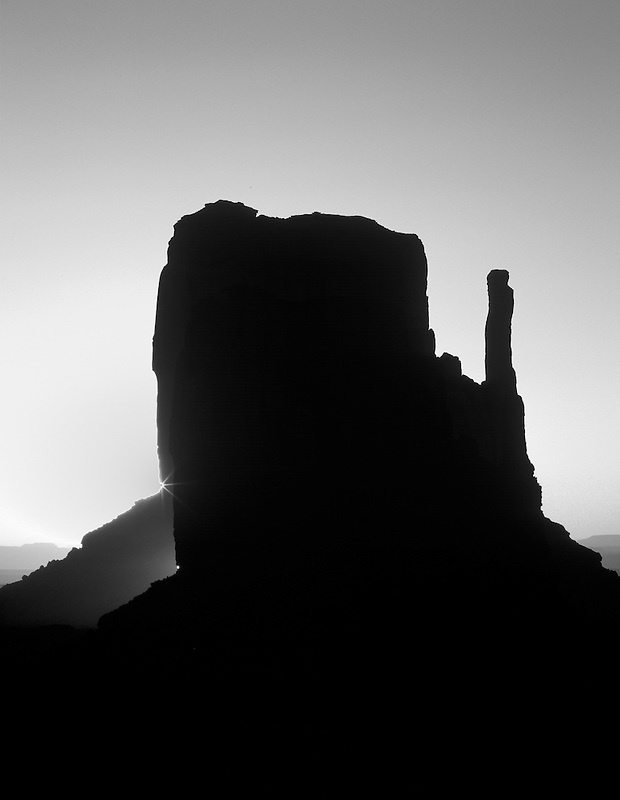 Sunrise on West Mitten in Monument Valley, Arizona