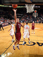 Nov 6, 2010; Charlottesville, VA, USA; Roanoke College f Joey Leech (42) shoots the ball Saturday afternoon in exhibition action at John Paul Jones Arena. The Virginia men's basketball team recorded an 82-50 victory over Roanoke College.