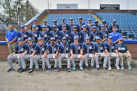 Asheville Tourists team photo during media day at McCormick Field on April 6, 2016 in Asheville, North Carolina. (Tony Farlow/Four Seam Images)