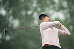 Celine Herbin of France tees off during Round 4 of the World Ladies Championship 2016 on 13 March 2016 at Mission Hills Olazabal Golf Course in Dongguan, China. Photo by Victor Fraile / Power Sport Images