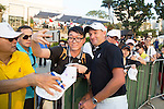 Sam Brazel of Australia signs autographs during the 58th UBS Hong Kong Golf Open as part of the European Tour on 10 December 2016, at the Hong Kong Golf Club, Fanling, Hong Kong, China. Photo by Vivek Prakash / Power Sport Images