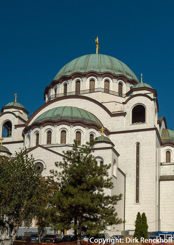 orthodoxer Dom des heiligen Sava, Sv. Save, Belgrad, Serbien, Europa<br /> Orthodox Cathedral of St. Sava, Belgrade, Serbia, Europe