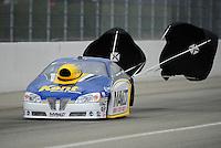 Feb. 12, 2012; Pomona, CA, USA; NHRA pro stock driver Rodger Brogdon during the Winternationals at Auto Club Raceway at Pomona. Mandatory Credit: Mark J. Rebilas-