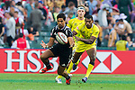 New Zealand vs Australia during the HSBC Sevens Wold Series match of the Cathay Pacific / HSBC Hong Kong Sevens at the Hong Kong Stadium on 28 March 2015 in Hong Kong, China. Photo by Juan Manuel Serrano / Power Sport Images