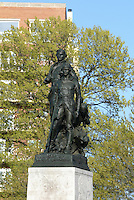 The lewis and clark statue with sacagawea in Charlottesville, Va. Credit Image: © Andrew Shurtleff