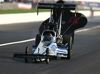 Sep 4, 2016; Clermont, IN, USA; NHRA top fuel driver Terry Haddock during qualifying for the US Nationals at Lucas Oil Raceway. Mandatory Credit: Mark J. Rebilas-USA TODAY Sports