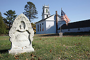 Newington Town Cemetery in the historical district of Newington, New Hampshire USA, which is part of scenic New England