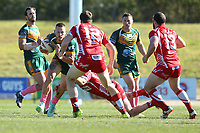The Wyong Roos play Kincumber Colts in Round 17 of the First Grade Central Coast Rugby League Division at Morry Breen Oval on 18th of August, 2019 in Kanwal, NSW Australia. (Photo by Paul Barkley/LookPro)