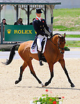 William Fox-Pitt(GBR), competing on NEUF DES COEURS, during the Dressage Test at the Rolex 3-Day 4-Star Event at the Kentucky Horse Park in Lexington, Kentucky on April 29, 2011.