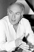 Montreal (qc) CANADA - file Photo - 1990 - <br /> <br /> <br /> French actor Michel Piccoli , exclusive interview photo -