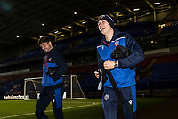Bolton Wanderers' Andrew Tutte (left) and Adam Senior arriving at the stadium  <br /> <br /> Photographer Andrew Kearns/CameraSport<br /> <br /> The EFL Sky Bet League Two - Bolton Wanderers v Salford City - Friday 13th November 2020 - University of Bolton Stadium - Bolton<br /> <br /> World Copyright © 2020 CameraSport. All rights reserved. 43 Linden Ave. Countesthorpe. Leicester. England. LE8 5PG - Tel: +44 (0) 116 277 4147 - admin@camerasport.com - www.camerasport.com