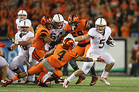 SAN JOSE, CA -- September 25, 2015: The Stanford Cardinal defeates the Oregon State Beavers 42-24 at Reser Stadium in Corvallis, Oregon.