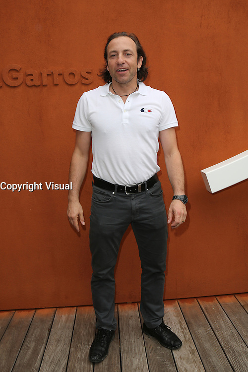 Philippe Candeloro seen at 'Le Village de Roland Garros during Roland Garros tennis open 2016 on may 28 2016.