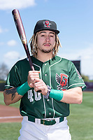 Great Lakes Loons outfielder Niko Hulsizer (40) poses for a photo before a Midwest League game against the Wisconsin Timber Rattlers at Dow Diamond on May 4, 2019 in Midland, Michigan. (Zachary Lucy/Four Seam Images)
