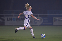 Charlotte Tison (20) of Anderlecht with the ball during a female soccer game between  Racing Genk Ladies and Royal Sporting Club Anderlecht , a delayed game from the 1st  matchday of the 2021-2022 season of the Belgian Scooore Womens Super League , tuesday 28 September 2021  in Genk , Belgium . PHOTO SPORTPIX | JILL DELSAUX