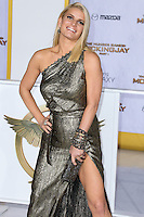 LOS ANGELES, CA, USA - NOVEMBER 17: Jessica Simpson arrives at the Los Angeles Premiere Of Lionsgate's 'The Hunger Games: Mockingjay, Part 1' held at Nokia Theatre L.A. Live on November 17, 2014 in Los Angeles, California, United States. (Photo by Xavier Collin/Celebrity Monitor)