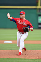 Philadelphia Phillies pitcher Jonathan Papelbon (58) during a Spring Training game against the New York Yankees on March 27, 2015 at Bright House Field in Clearwater, Florida.  New York defeated Philadelphia 10-0.  (Mike Janes/Four Seam Images)
