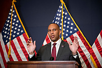 Democratic Caucus Chairman United States Representative Hakeem Jeffries (Democrat of New York)<br /> offers remarks during a press conference at the US Capitol in Washington, DC, Tuesday, July 20, 2021. Credit: Rod Lamkey / CNP /MediaPunch