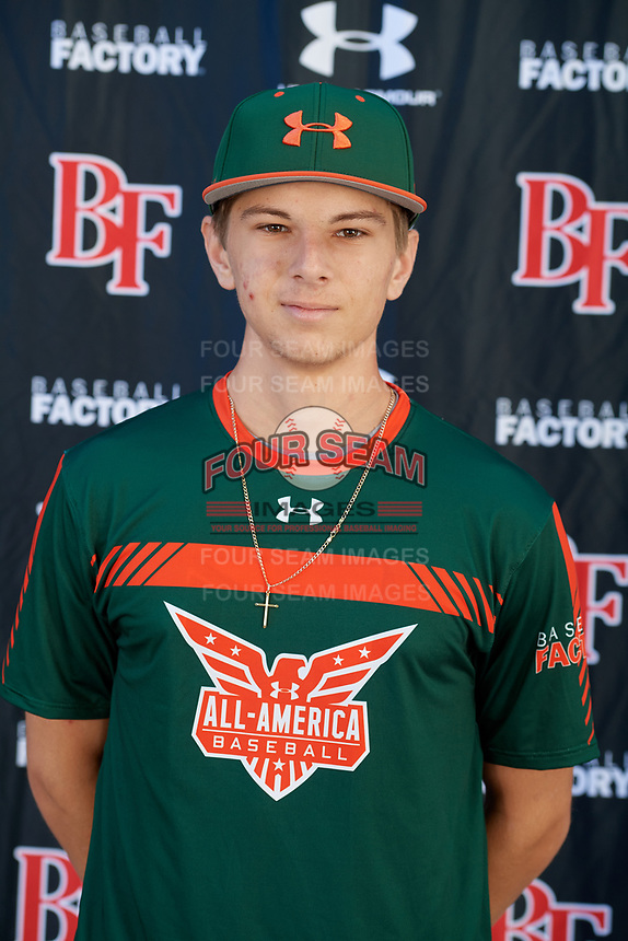 Jackson Turner during the Under Armour All-America Tournament powered by Baseball Factory on January 17, 2020 at Sloan Park in Mesa, Arizona.  (Mike Janes/Four Seam Images)
