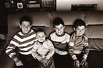 Dr Flynn's children - February 1986. Photograph by Liam McGrath