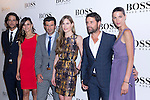 31.05.2012. Celebrities attend opening ceremony of the new BOSS Store Madrid Jorge Juan on the terrace of the Palacio de Cibeles. In the image Feliciano Lopez, Goya Toledo, Luis Figo, Helen Swedin, David Ascanio and Laura Sanchez (Alterphotos/Marta Gonzalez)