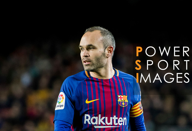 Andres Iniesta Lujan of FC Barcelona looks on during the Copa Del Rey 2017-18 Round of 16 (2nd leg) match between FC Barcelona and RC Celta de Vigo at Camp Nou on 11 January 2018 in Barcelona, Spain. Photo by Vicens Gimenez / Power Sport Images