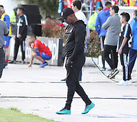 IPIALES- COLOMBIA,15-05-2019:Jersson González director técnico del América de Cali  ante el Deportivo Pasto  durante el segundo  partido de los cuadrangulares finales de la Liga Águila I 2019 jugado en el estadio Municipal de Ipiales de la ciudad de Ipiales. /Jersson Gonzalez coach of America de Cali agaisnt of Deportivo Pasto during the second match for the quarter finals B of the Liga Aguila I 2019 played at the Municipal de Ipiales stadium in Ipiales city. Photo: VizzorImage / Leonardo Castro / Contribuidor
