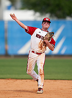 New Castle Hurricanes second baseman Donte Micaletti (22) during the IMG National Classic on March 29, 2021 at IMG Academy in Bradenton, Florida.  (Mike Janes/Four Seam Images)