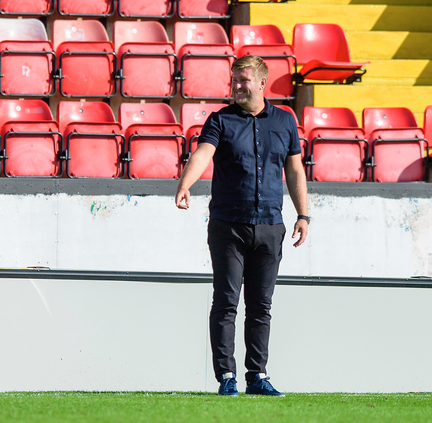 Oxford United manager Karl Robinson<br /> <br /> Photographer Chris Vaughan/CameraSport<br /> <br /> The EFL Sky Bet League One - Saturday 12th September 2020 - Lincoln City v Oxford United - LNER Stadium - Lincoln<br /> <br /> World Copyright © 2020 CameraSport. All rights reserved. 43 Linden Ave. Countesthorpe. Leicester. England. LE8 5PG - Tel: +44 (0) 116 277 4147 - admin@camerasport.com - www.camerasport.com - Lincoln City v Oxford United
