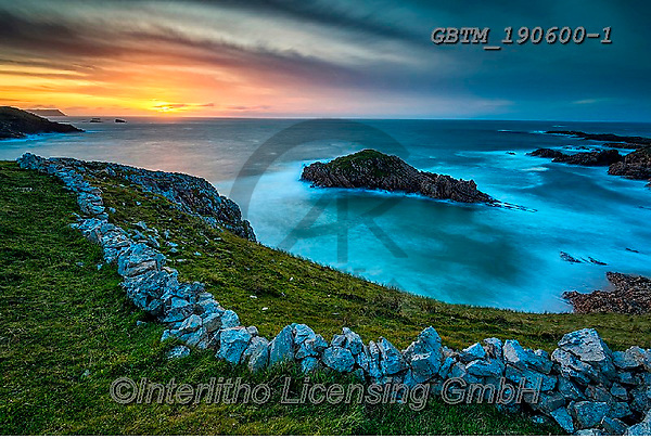 Tom Mackie, LANDSCAPES, LANDSCHAFTEN, PAISAJES, FOTO, photos,+Atlantic Ocean, Atlantic coast, County Donegal, EU, Eire, Europa, Europe, European, Ireland, Irish, Tom Mackie, bay, coast, c+oastline, coastlines, horizontal, horizontals, landscape, landscapes, natural landscape, nobody, sea, stone wall, sunrise, su+nrises, sunset, sunsets, time of day, walls,Atlantic Ocean, Atlantic coast, County Donegal, EU, Eire, Europa, Europe, Europea+n, Ireland, Irish, Tom Mackie, bay, coast, coastline, coastlines, horizontal, horizontals, landscape, landscapes, natural lan+,GBTM190600-1,#L#, EVERYDAY ,Ireland