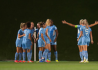 31st August 2021; Estadio Afredo Di Stefano, Madrid, Spain; Women's Champions League, Real Madrid CF versus Manchester City Football Club; Manchester City goal celebration
