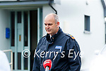 Garda Superintendent Liam Geraghty Press Officer, at a press confrence at Lixnaw Garda station on Wednesday about suspected murder-suicide at Ballyreehan, Lixnaw.