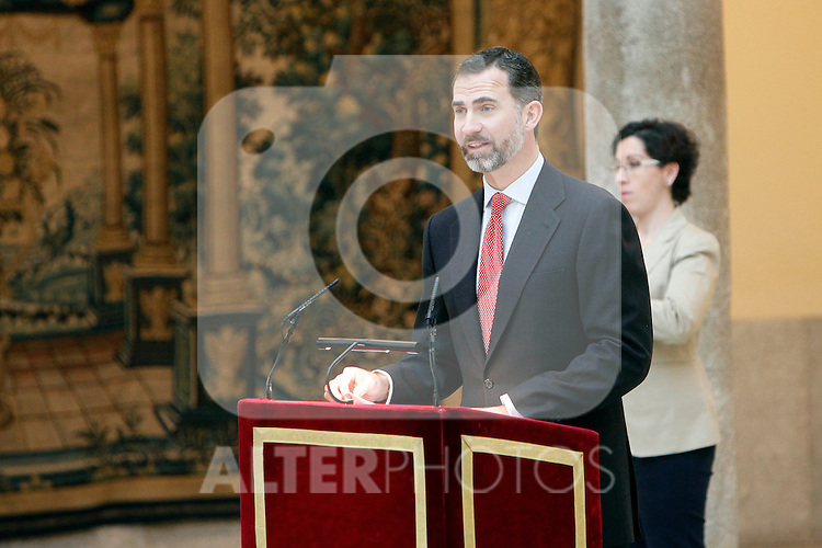 Prince Felipe of Spain attend the National Awards of Culture 2011 and 2012 at Palacio de El Pardo. February 19, 2013. (ALTERPHOTOS/Caro Marin)