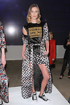 Model poses in an outfit from the Daniel Barreira collection during the Epson Digital Couture Fall Winter 2017 fashion presentation on February 7, 2017 in the IAC Building, during New York Fashion Week Women Fall 2017.