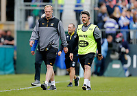 Photo: Richard Lane/Richard Lane Photography. Bath Rugby v Wasps. Gallagher Premiership. 05/05/2019. Wasps' coaches, Lee Blackett and Andy Titterrell.