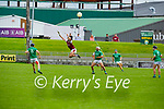Causeway's Gavin Dooley takes to the air to gain possession against Ballyduff in round 2 of the County Senior Hurling championship,
